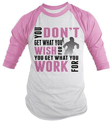 Shirts By Sarah Men's Lacrosse Shirt Get What Work For 3/4 Sleeve Raglan Shirts-Shirts By Sarah