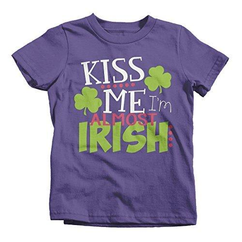 Shirts By Sarah Youth Funny ST. Patrick's Day T-Shirt Kiss Me Almost Irish Toddler-Shirts By Sarah