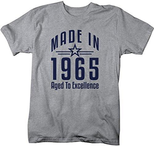 Shirts By Sarah Men's Made In 1965 Birthday T-Shirt Aged To Excellence Shirts-Shirts By Sarah