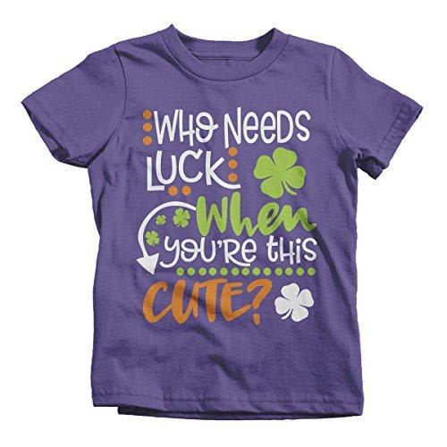 Shirts By Sarah Youth Funny ST. Patrick's Day T-Shirt Who Needs Luck This Cute Tee-Shirts By Sarah