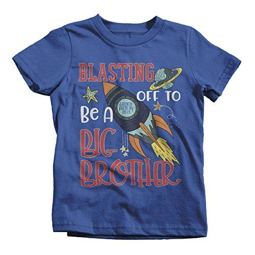 Boy's Big Brother T-Shirt Rocket Space Launch 2019 Shirt-Shirts By Sarah