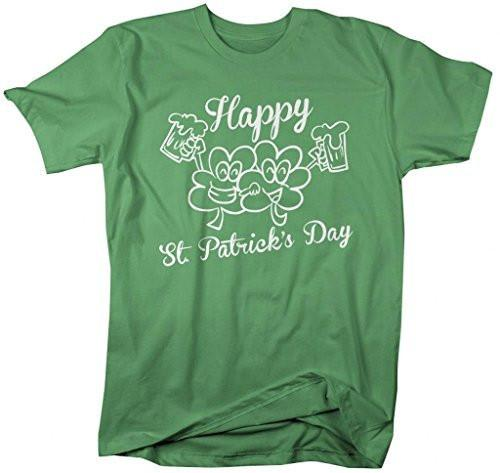 Shirts By Sarah Men's St. Patrick's Day Funny Drinking Clovers T-Shirt-Shirts By Sarah