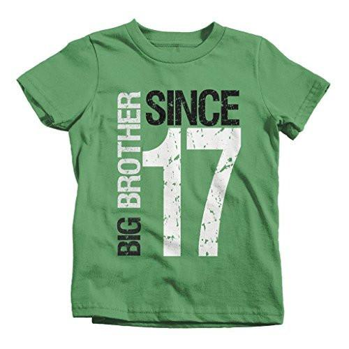 Shirts By Sarah Boy's Big Brother Since 2017 T-Shirt Promoted To Distressed T-Shirt-Shirts By Sarah