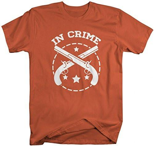 Shirts By Sarah Unisex Best Friends Partners In Crime T-Shirts - Crime-Shirts By Sarah