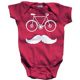 Shirts By Sarah Baby Cute Hipster Bicycle Creeper One Piece Bodysuit - Hot Pink / 12 Months - 4