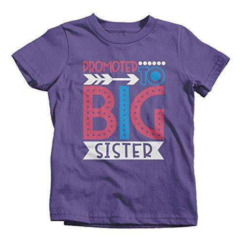 Shirts By Sarah Girl's Promoted to Big Sister Dotty T-Shirt Cute Shirt Promoted to T-Shirt-Shirts By Sarah
