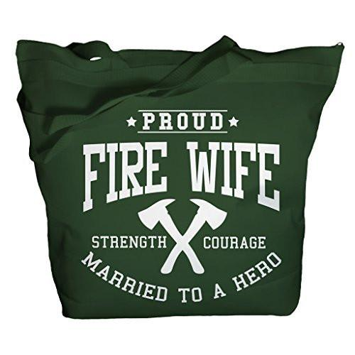Shirts By Sarah Tote Bag Proud Fire Wife Bags Married To Hero Totes Pride-Shirts By Sarah