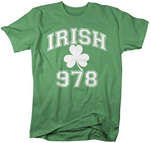 Shirts By Sarah Men's St. Patrick's Day Area Code T-Shirt Gloucester Irish 978-Shirts By Sarah