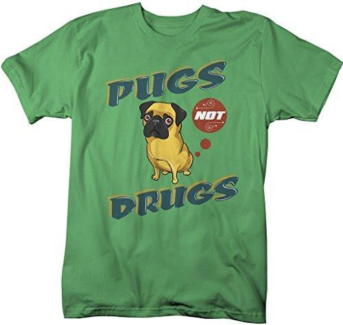Shirts By Sarah Men's Funny Pugs Not Drugs T-Shirt Hilarious Shirts-Shirts By Sarah