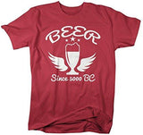 Shirts By Sarah Men's Funny Beer T-Shirt Since 5000 BC Brew Lover-Shirts By Sarah