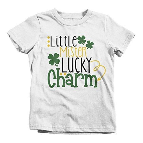 Shirts By Sarah Boy's Little Mister Lucky Charm T-Shirt ST. Patrick's Day-Shirts By Sarah