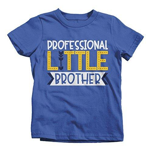 Shirts By Sarah Boy's Professional Little Brother T-Shirt Cute Sibling Shirt-Shirts By Sarah