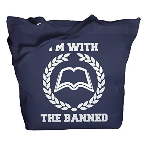 Shirts By Sarah Tote Bag With The Banned Books Totes Librarian Bags-Shirts By Sarah