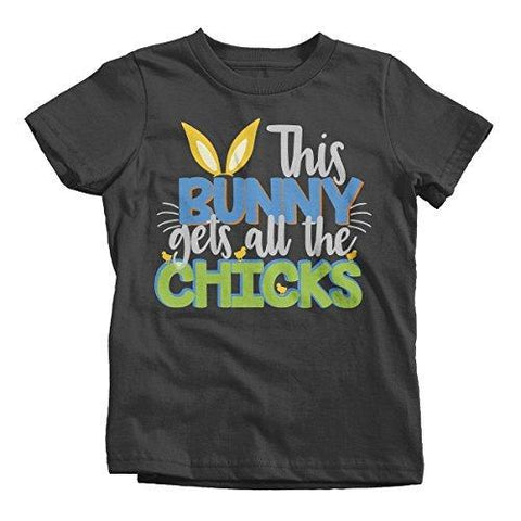 Shirts By Sarah Boy's Funny Easter T-Shirt Bunny Gets Chicks Toddler Infant Tee Shirts-Shirts By Sarah