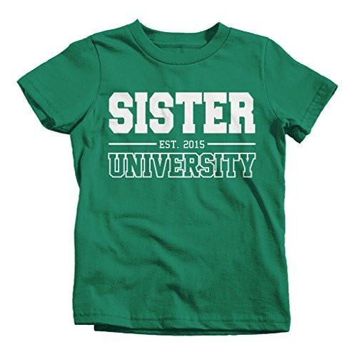 Shirts By Sarah Girl's Sister University 2015 T-Shirt Big Sister Shirts-Shirts By Sarah