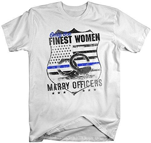 Shirts By Sarah Unisex Police Wife Finest Women T-Shirt Marry Officers-Shirts By Sarah
