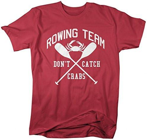 Shirts By Sarah Men's Funny Rowing T-Shirt Crew Rower Shirts Don't Catch Crabs-Shirts By Sarah