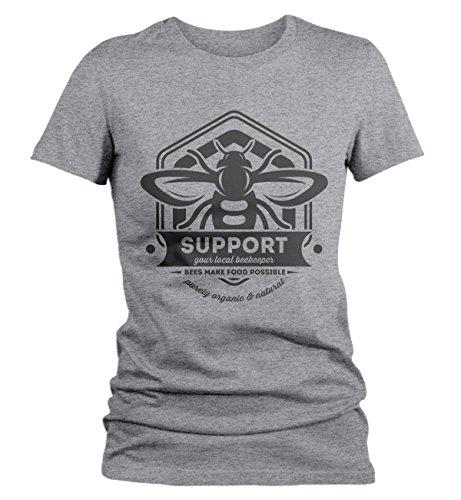 Women's Beekeeper T-Shirt Support Local Bee Keeper Honey Shirt-Shirts By Sarah