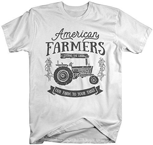 Men's Vintage Farmer T-Shirt American Farmers Tractor Tee Farm to Table Shirt-Shirts By Sarah