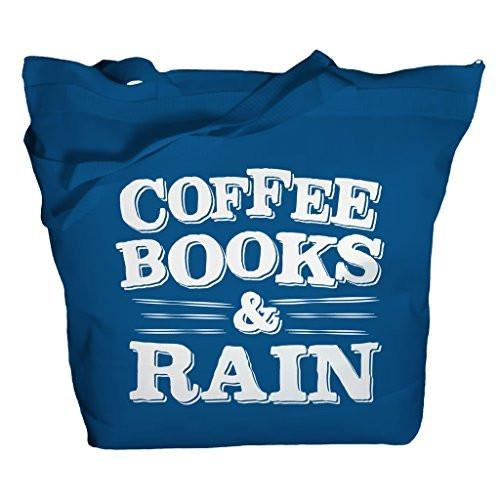 Shirts By Sarah Tote Bag Coffee Books Rain Totes Reader Bags Librarian-Shirts By Sarah