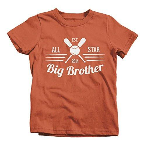 Shirts By Sarah Boy's All Star Big Brother 2014 Baseball T-Shirt-Shirts By Sarah
