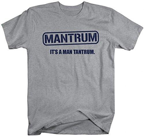 Shirts By Sarah Men's Funny Mantrum T-Shirt Man Tantrum Tee Shirt-Shirts By Sarah