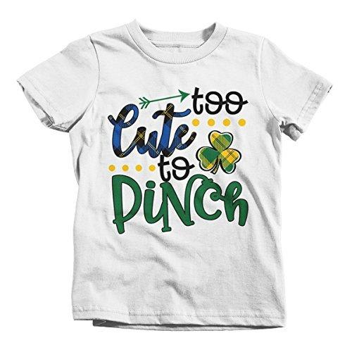 Shirts By Sarah Boy's Funny ST. Patrick's Day T-Shirt Too Cute To Pinch Toddler-Shirts By Sarah