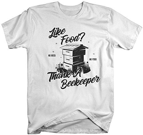 Men's Funny Beekeeper T-Shirt Like Food Thank Bee Keeper Gift Idea Shirt-Shirts By Sarah