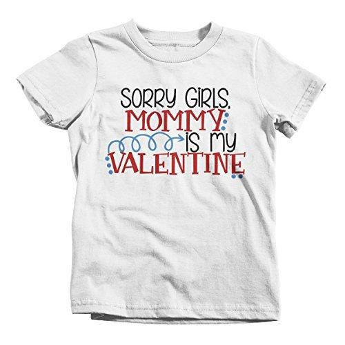 Shirts By Sarah Boy's Mommy Is My Valentine Kids Funny Valentines Day T-Shirt-Shirts By Sarah