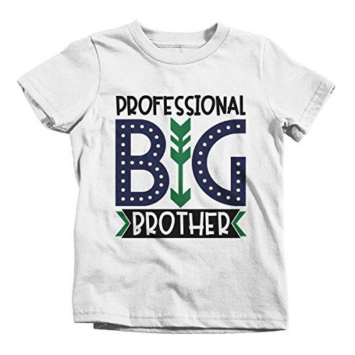 Shirts By Sarah Boy's Professional Big Brother T-Shirt Cute Sibling Shirt-Shirts By Sarah