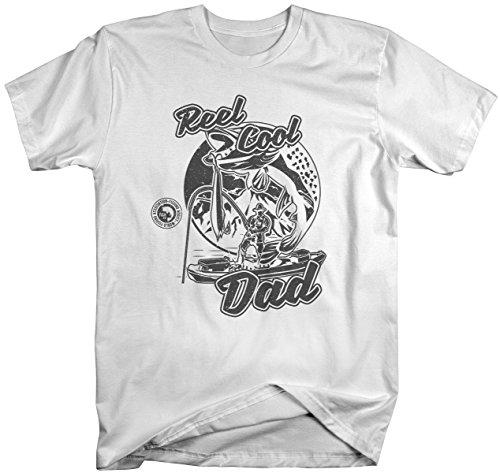 Men's Funny Reel Cool Dad Fishing T-Shirt Fisherman Gift Idea-Shirts By Sarah