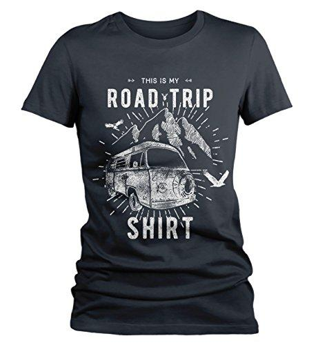 Women's Hipster Road Trip T-Shirt Mountains Adventure Camping Shirt-Shirts By Sarah
