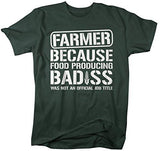 Shirts By Sarah Men's Funny Farmer T-Shirt Food Producing Bad*ss Shirt-Shirts By Sarah