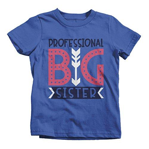 Girl's Professional Big Sister T-Shirt Cute Sibling Shirt-Shirts By Sarah