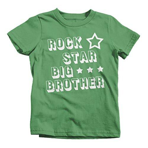 Shirts By Sarah Boy's Rock Star Big Brother T-Shirt-Shirts By Sarah