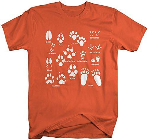Shirts By Sarah Men's Animal Tracks T-Shirt Hunting Shirts Hunter Season-Shirts By Sarah