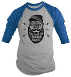 Shirts By Sarah Men's Funny Lumberjack T-Shirt Never Lumber Back Woodsman Tee 3/4 Sleeve Raglan-Shirts By Sarah