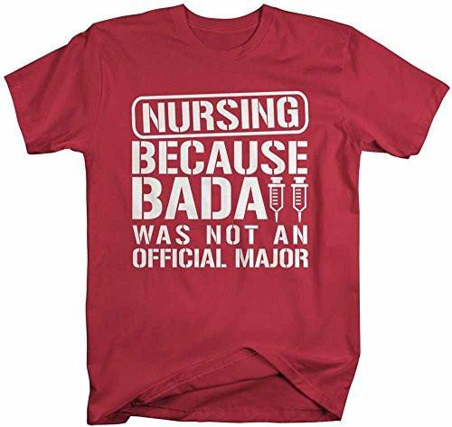 Shirts By Sarah Men's Funny T-Shirt For Nurses College Students-Shirts By Sarah