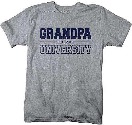 Shirts By Sarah Men's Grandpa University Est. 2016 T-Shirt Father's Day Shirts-Shirts By Sarah
