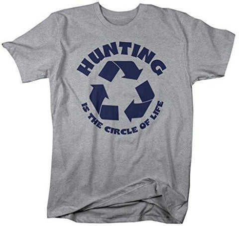 c96f2873 Shirts By Sarah Men's Funny Hunting Shirt Circle Of Life Hunter T-Shirts- Shirts