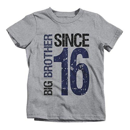 Shirts By Sarah Boy's Big Brother Since 2016 T-Shirt Promoted To Distressed T-Shirt-Shirts By Sarah