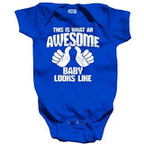Shirts By Sarah Baby What An Awesome Baby Looks Like Bodysuit - Royal Blue / Newborn - 1