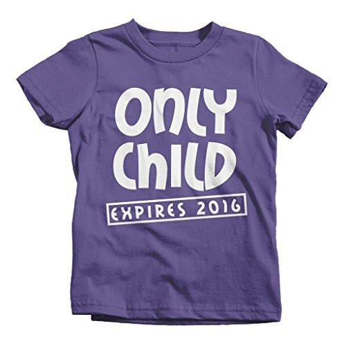 Shirts By Sarah Youth Funny Only Child Expiring 2016 T-Shirt New Baby Shirts-Shirts By Sarah