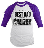 Shirts By Sarah Men's Funny Best Dad In Galaxy Shirt 3/4 Sleeve Raglan Father's Day Space-Shirts By Sarah