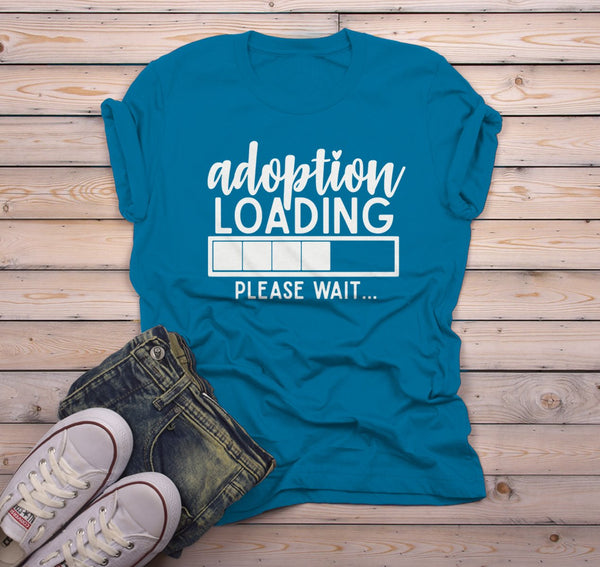Men's Adoption T Shirt Cute Adoption Loading Parent Tee Gift Idea Adoptive Dad Parents-Shirts By Sarah