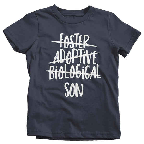 Boy's Foster Son T Shirt Adoptive Son Shirts Biological Son Tee Adoption Tshirt-Shirts By Sarah