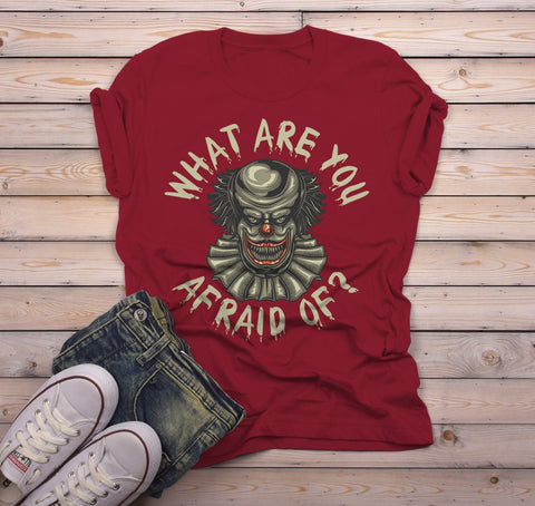 Men S Halloween T Shirt Scary Clown Shirts Evil Clowns Graphic Tee