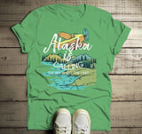 Men's Alaska Shirt Vintage Shirts Calling Sky Not Limit Travel Graphic Tee Hipster Shirts-Shirts By Sarah