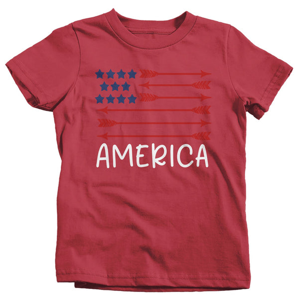 Kid's American Flag Arrow T-Shirt Freedom Patriotic 4th July Shirt America Shirts Memorial Day Shirt Hipster-Shirts By Sarah