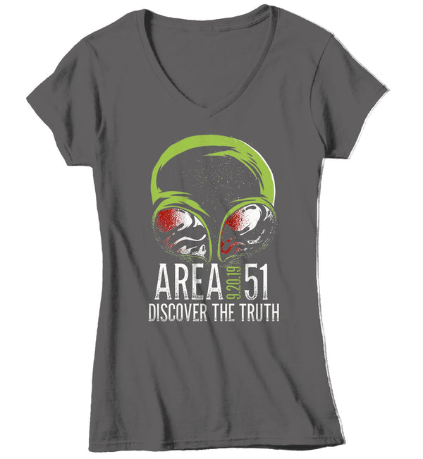 Women's Area 51 T Shirt Storm Area 51 Shirts Alien Shirts Discover Truth Conspiracy T Shirt Graphic Alien Shirt-Shirts By Sarah